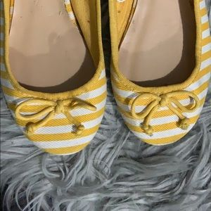 Yellow stripped Flats